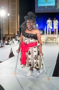 Walking the runaway at the recent Miss Malaika event.