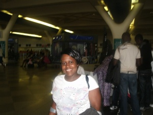 At Harare International Airport Feb 2012...Oh boy am I glad I have lost a ton of weight...LOL