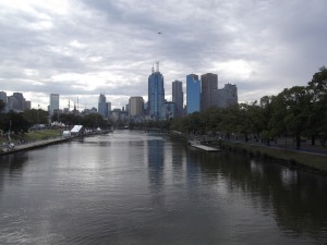 Yarra River in the city.